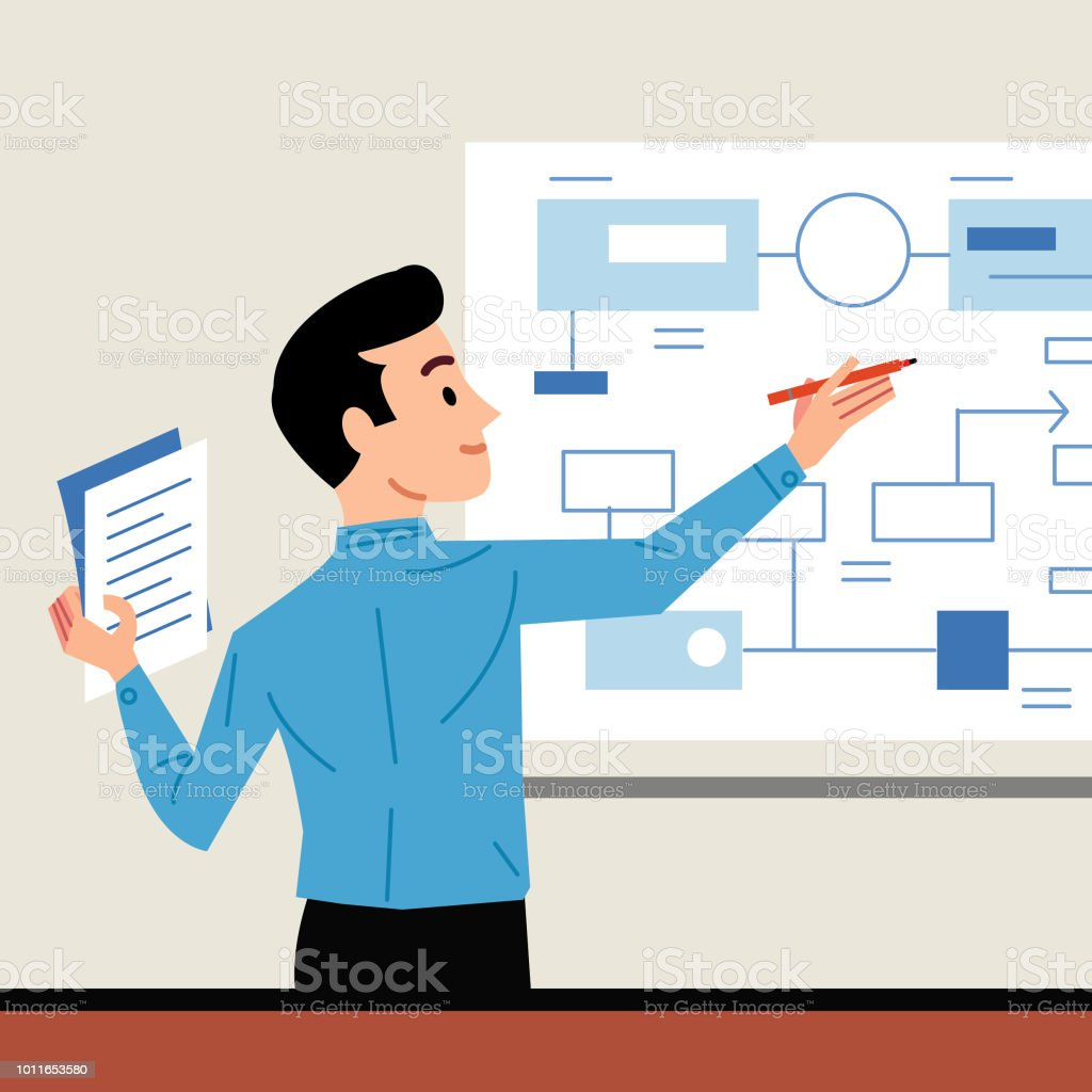 Planning vector art illustration