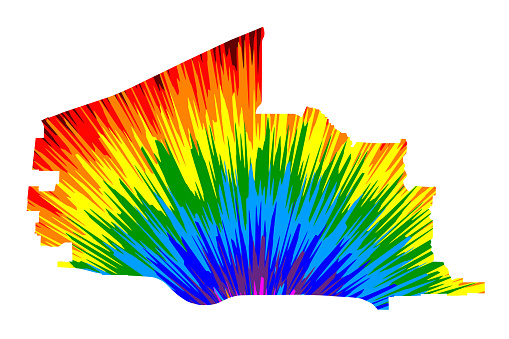 Plano city (United States of America, USA, U.S., US, United States cities, usa city)- map is designed rainbow abstract colorful pattern, City of Plano map made of color explosion,