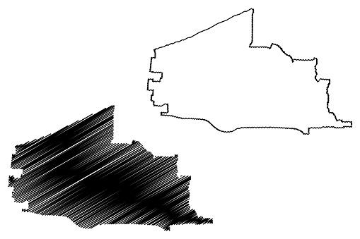 Plano City map vector