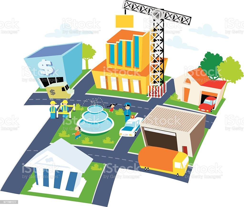plano de ciudad royalty-free stock vector art