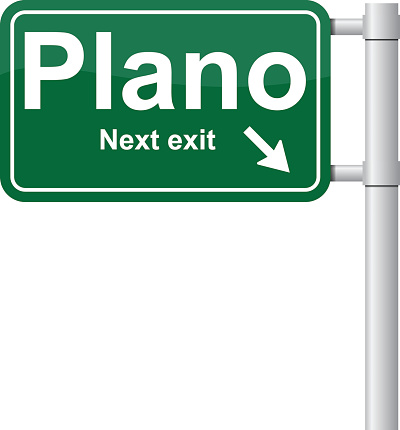 Plano next exit green signal vector