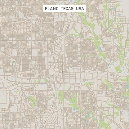 Plano Texas US City Street Map