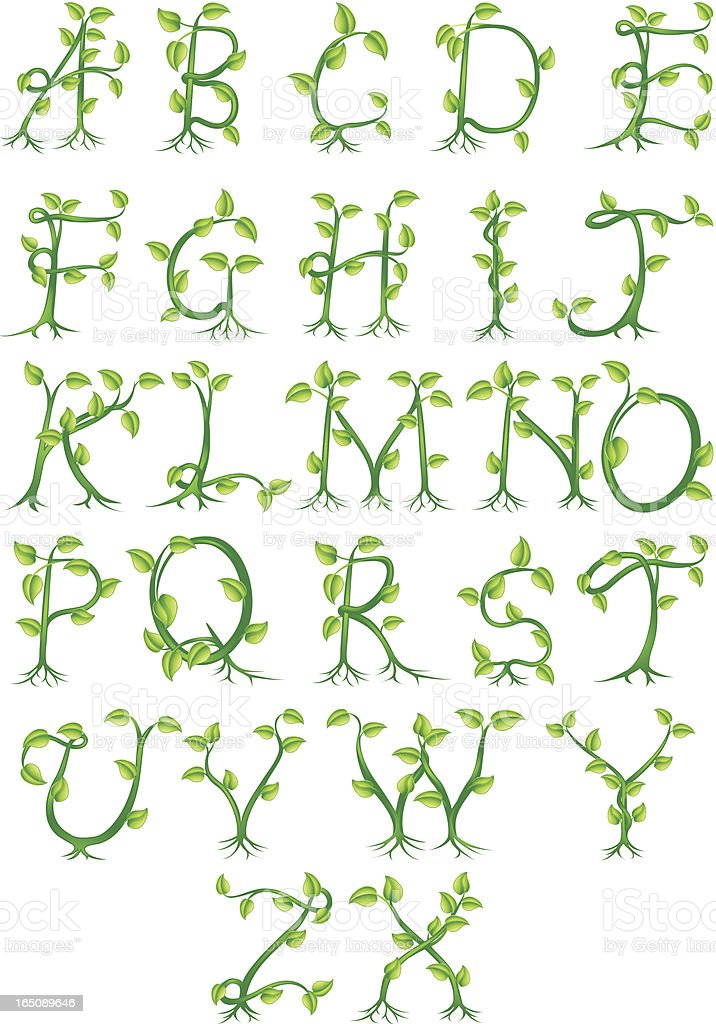 Plant alphabet letters royalty-free plant alphabet letters stock vector art & more images of alphabet
