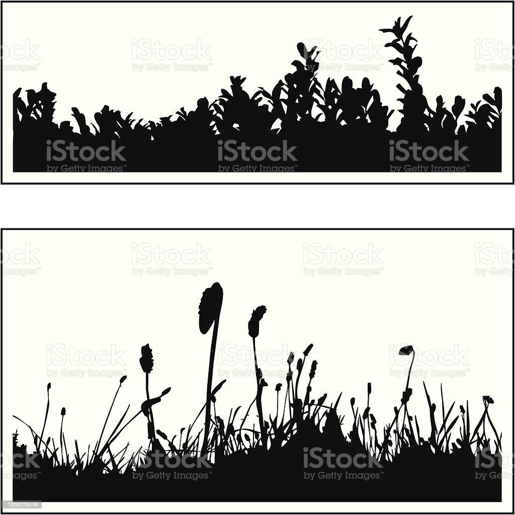 Plant border 04 royalty-free stock vector art