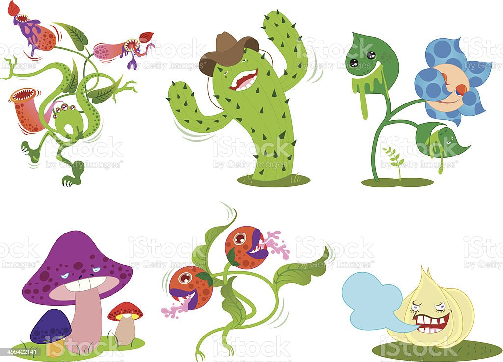 plant characters royalty-free stock vector art