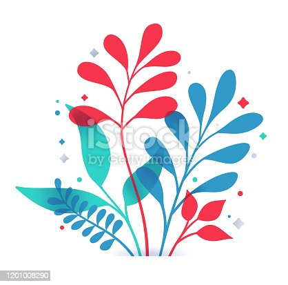 istock Plant Decorative Leaf Design 1201008290