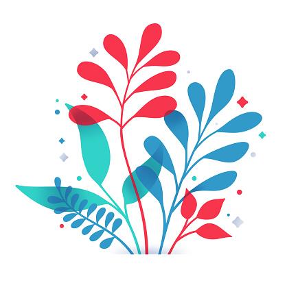 Plant Decorative Leaf Design