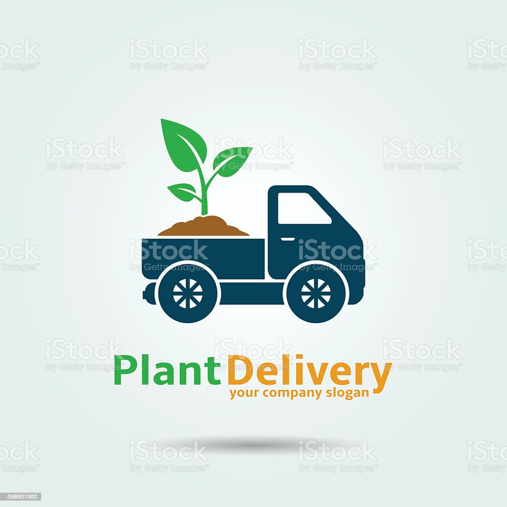 Plant Delivery Icon vector art illustration
