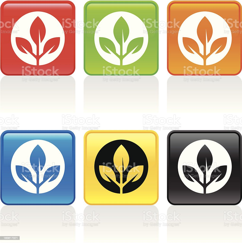 Plant Icon II royalty-free stock vector art