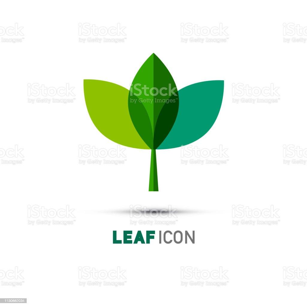 Plant Icon. Leaf Symbol. Nature Logo Concept. Abstract Vector Bio...