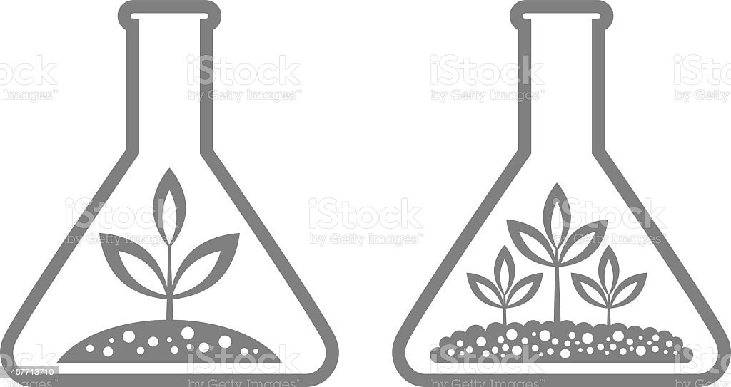 Plant in laboratory glass royalty-free plant in laboratory glass stock illustration - download image now
