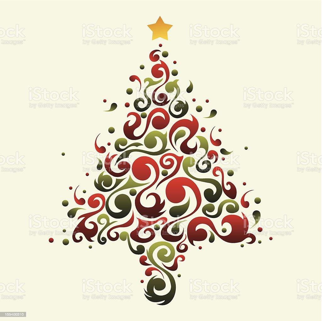 Plant ornamental christmas tree royalty-free stock vector art