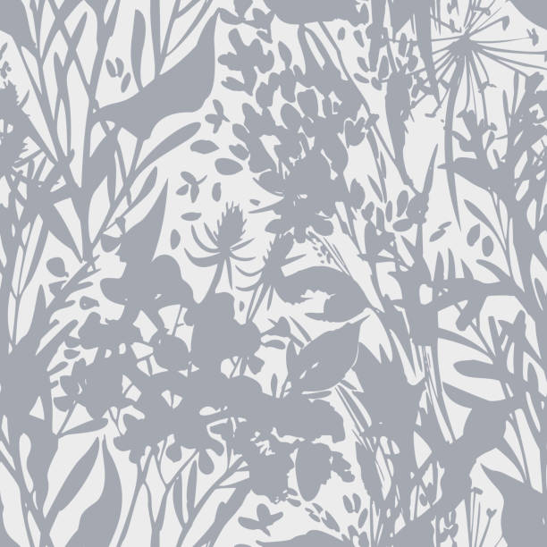 Plant silhouettes. Blooming garden flowers, herbs, leafs and field plants in flat vintage style. Plain floral ornament. High summer decoration. Plant silhouettes. Blooming garden flowers, herbs, leafs and field plants in flat vintage style. Plain floral ornament. High summer decoration. flower head stock illustrations