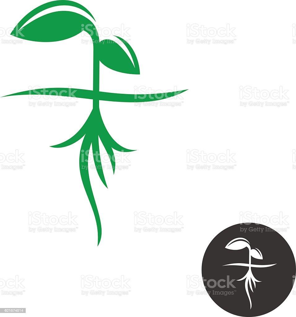 Plant sprout with roots plant sprout with roots – cliparts vectoriels et plus d'images de agriculture libre de droits