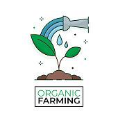 istock Plant watering icon - Growth - Organic Farming - Editable stroke 1179327619