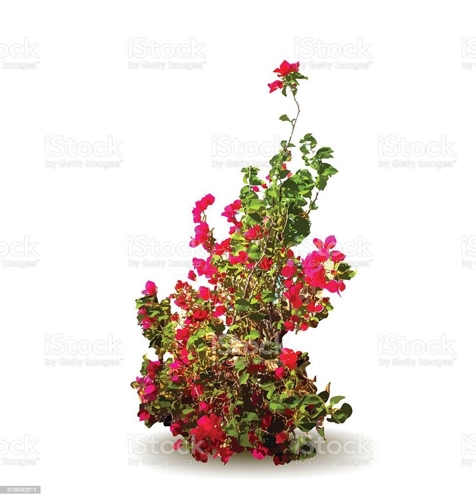 avec des fleurs et de feuilles arbre décoratif illustration