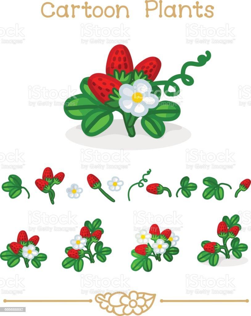 Ilustración de De Dibujos Animados Serie De Plantae Plantas Conjunto ...