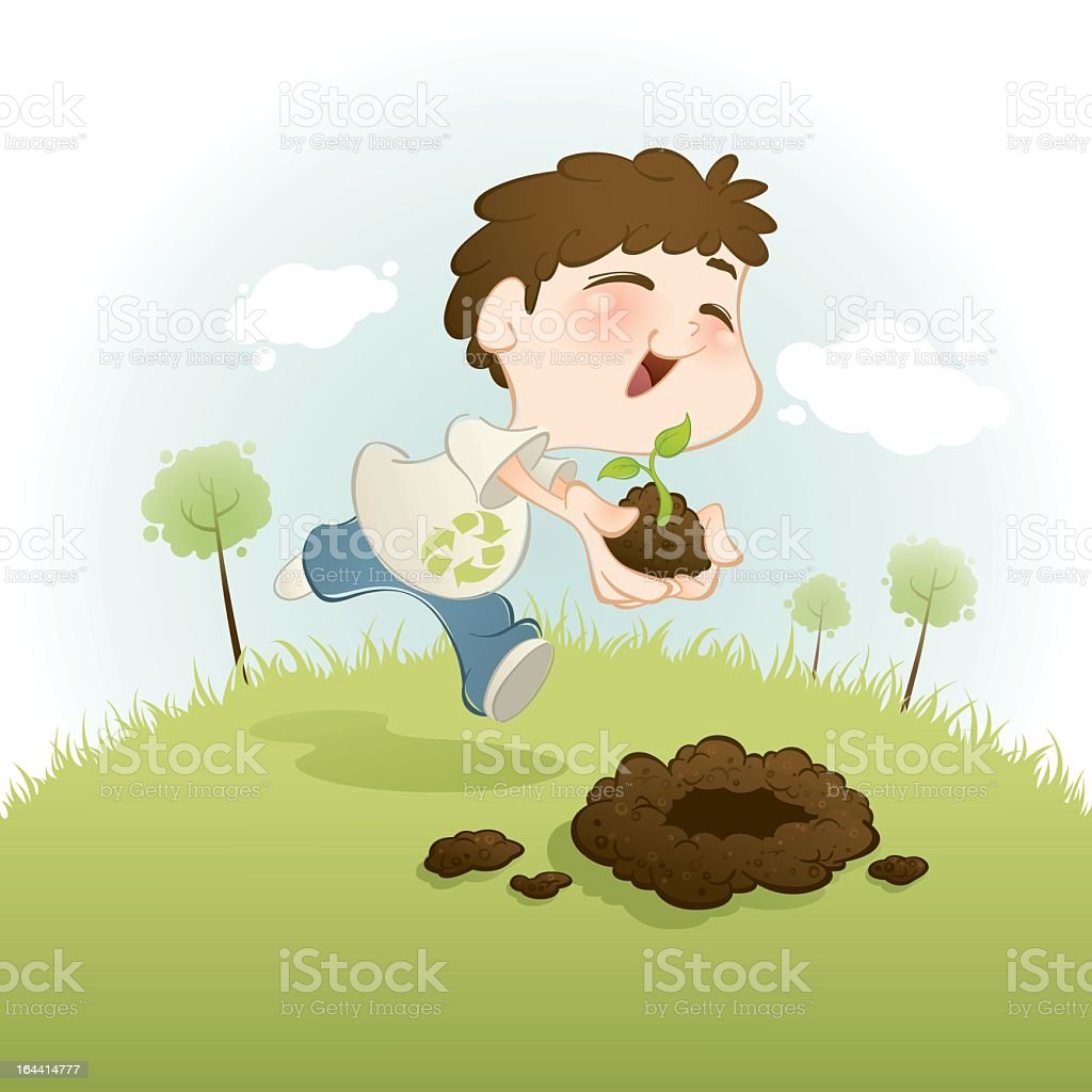 Planting a new future royalty-free stock vector art