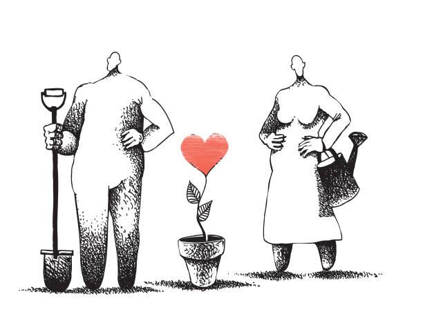 Temporada de siembra - ilustración de arte vectorial