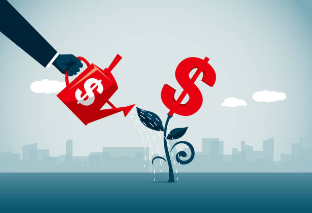 planting commercial illustrator us currency stock illustrations