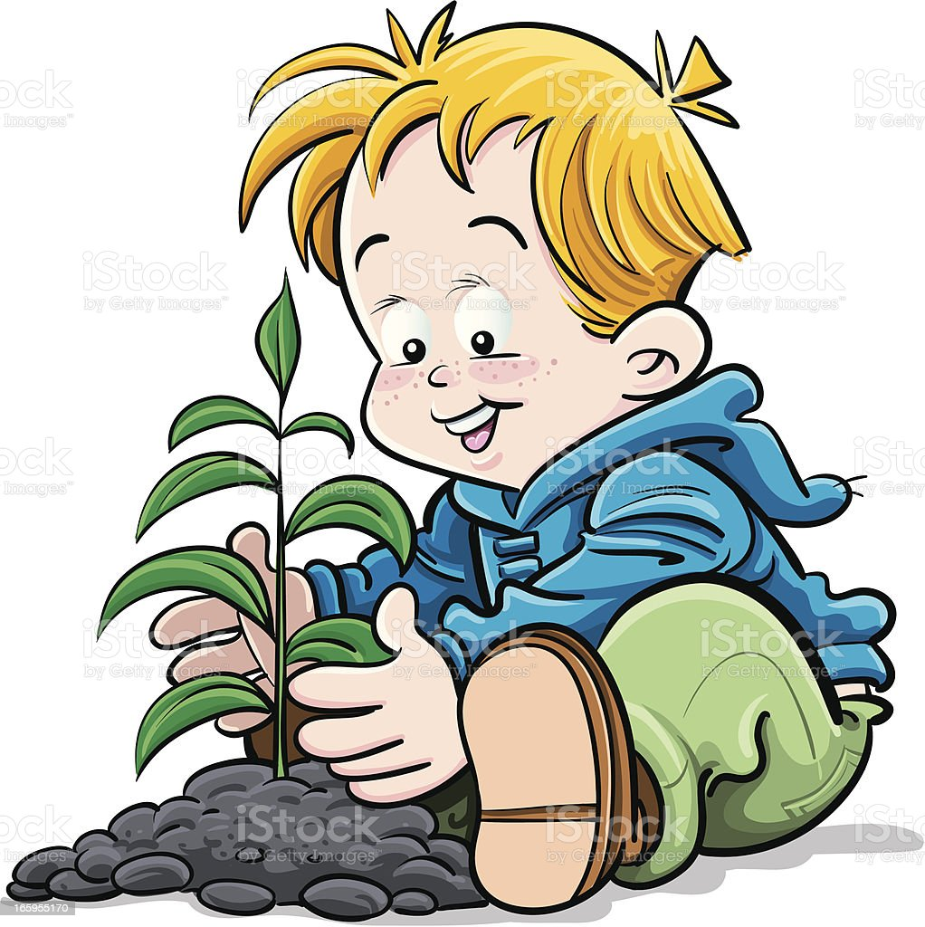 Planting royalty-free planting stock vector art & more images of cartoon