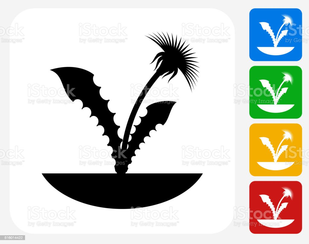 Plants Icon Flat Graphic Design vector art illustration