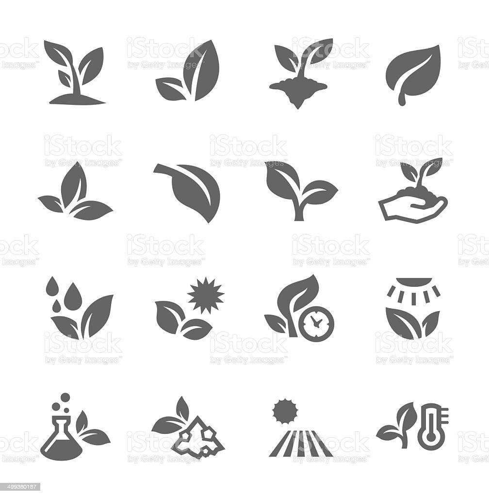 Ícones de plantas - ilustração de arte em vetor