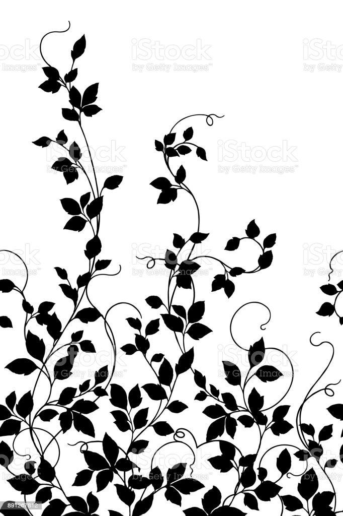 Plants illustration pattern vector art illustration