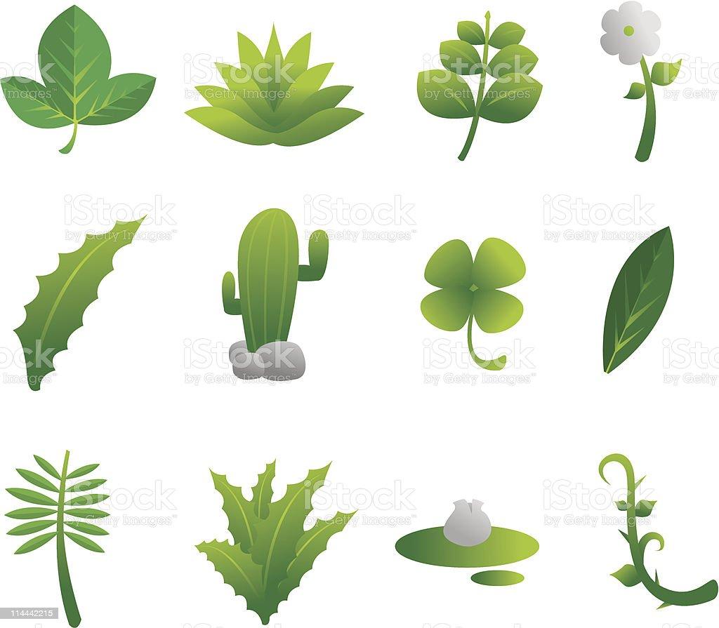 Plants Nature Set royalty-free stock vector art