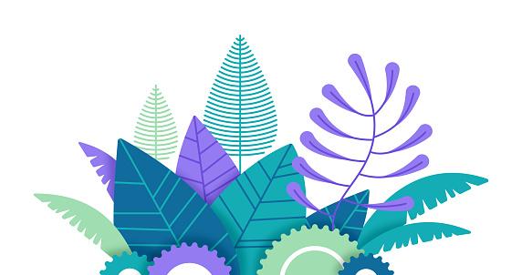Plants Tropical Edge Design Element