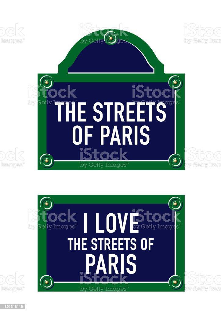 Plaque de Rue Parisienne – Vektorgrafik