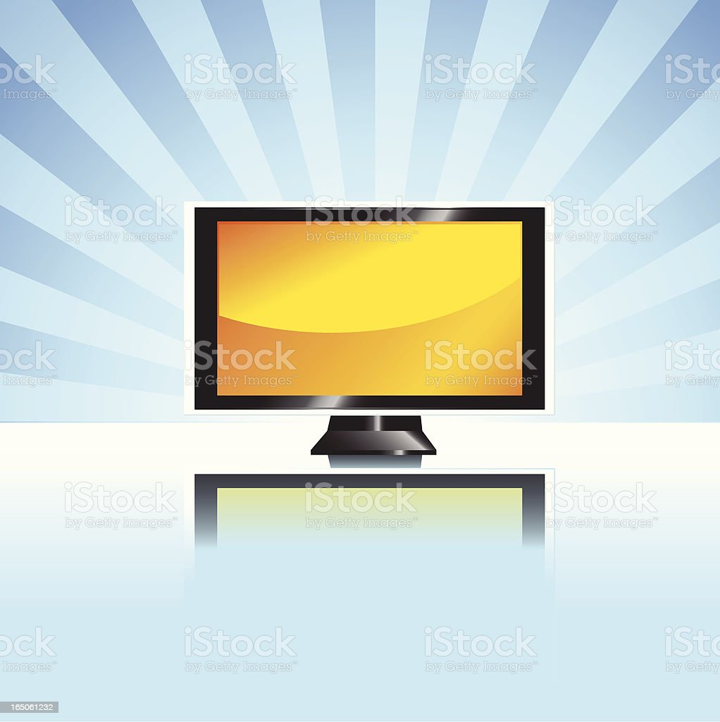 Plasma TV / LCD royalty-free stock vector art