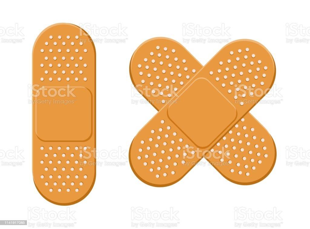 Plaster Bandage Vector Set Stock Illustration - Download