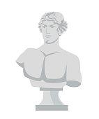 istock Plaster bust flat vector illustration 1188218263