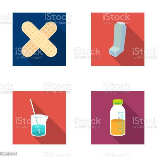 Gips Inhalator Lösningen I Ett Glas Mtdicine Ange Samling Ikoner I Platt Stil Vektor Symbol Stock Illustration Web-vektorgrafik och fler bilder på Flaska
