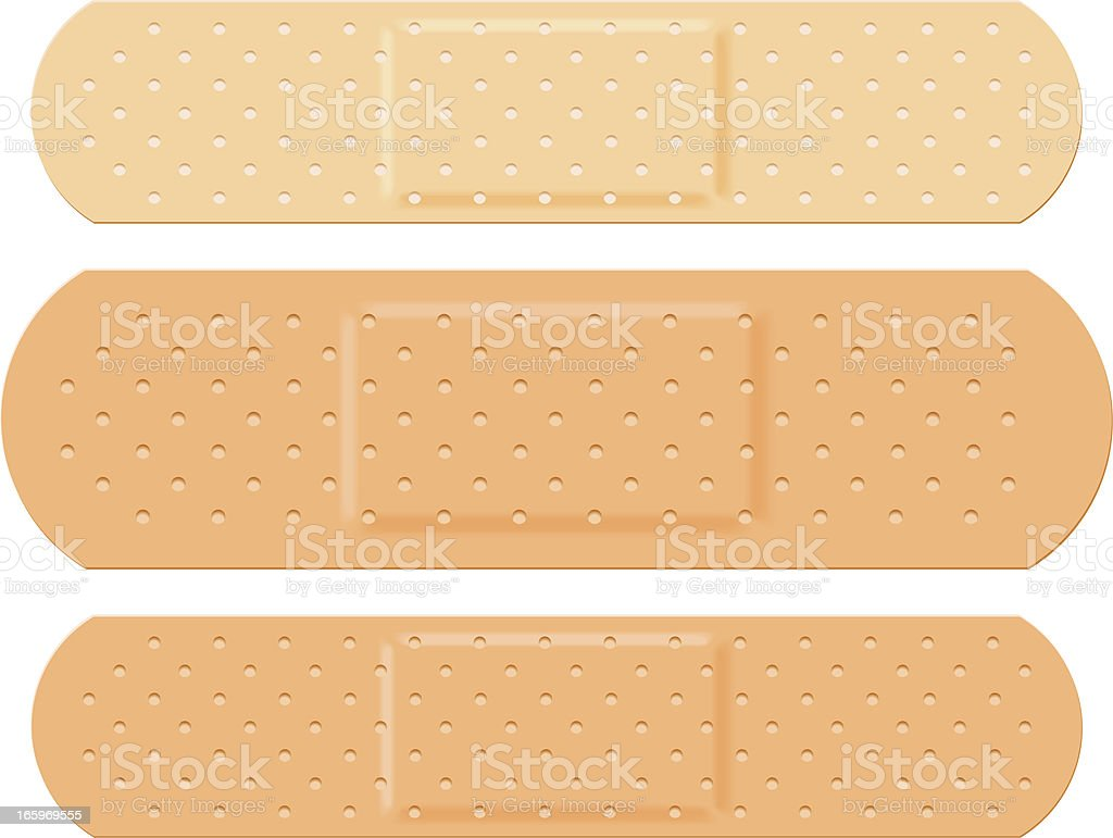 Plaster Set vector art illustration