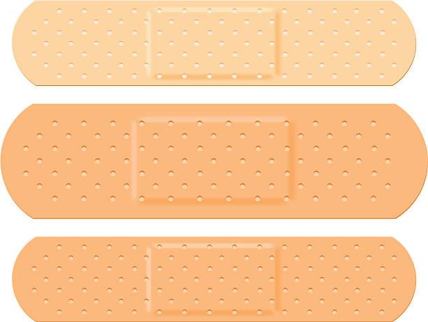 Plaster Set Plaster Set adhesive bandage stock illustrations