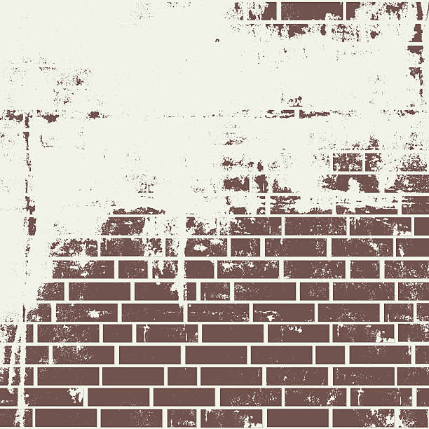 En stuc mur de briques. - Illustration vectorielle