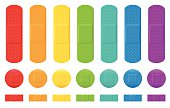 istock Plasters Colors Adhesive Bandage Collection 478541850