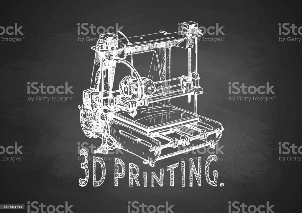 Tafel Voor Printer : Kunststoff ddrucker auf tafel stock vektor art und mehr bilder von