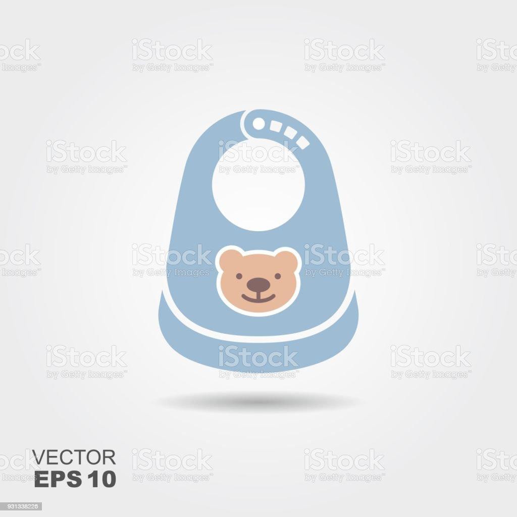 Bavoir bébé en plastique - Illustration vectorielle
