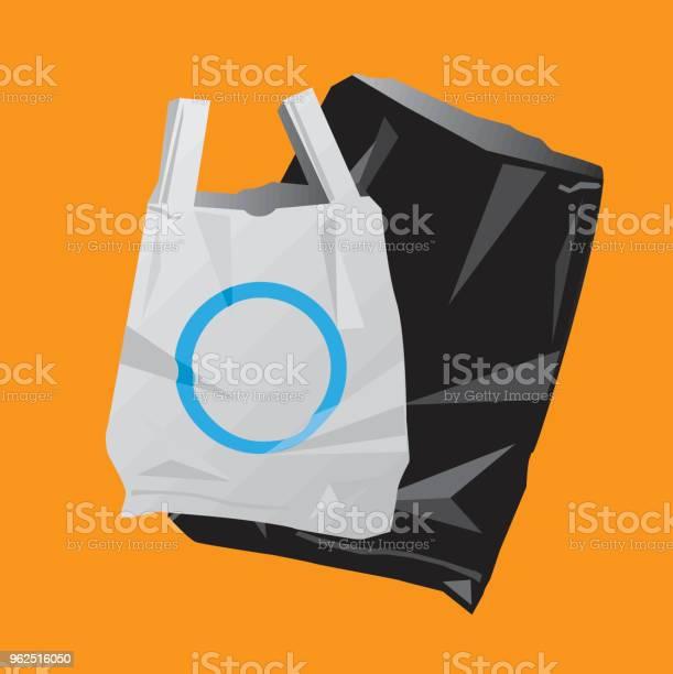Vetores de Saco De Plástico E O Saco Preto e mais imagens de Ilustração e Pintura