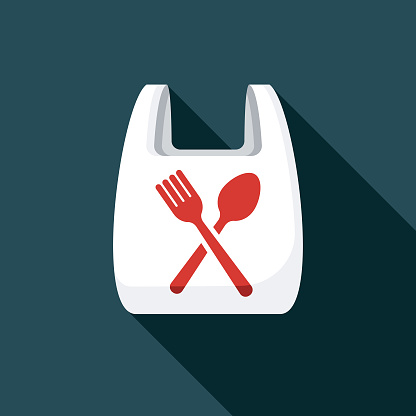 Plastic Bag Food Delivery Icon