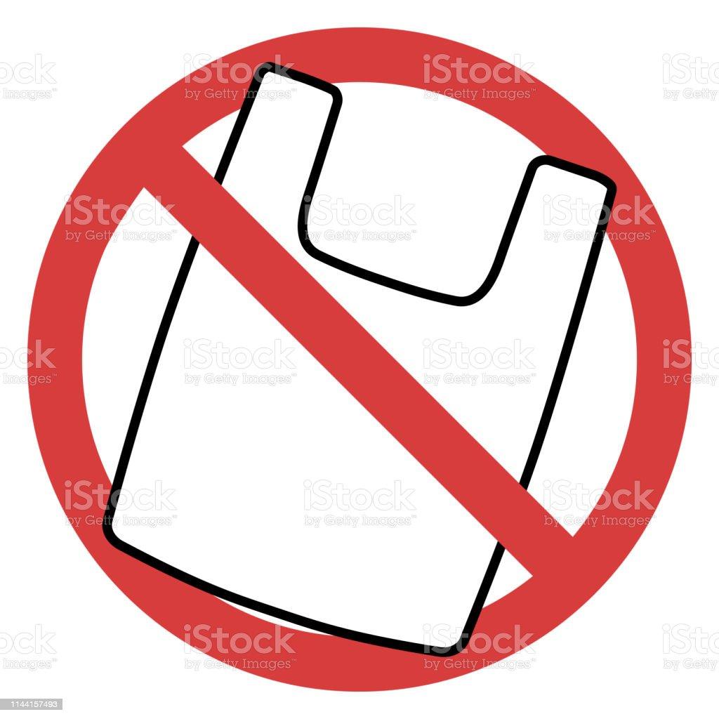 Señalización De Bolsas Prohibición Ilustración Plástico n0Nwm8