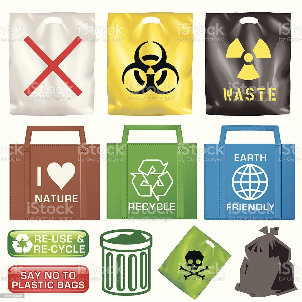 Plastic Bags vector art illustration