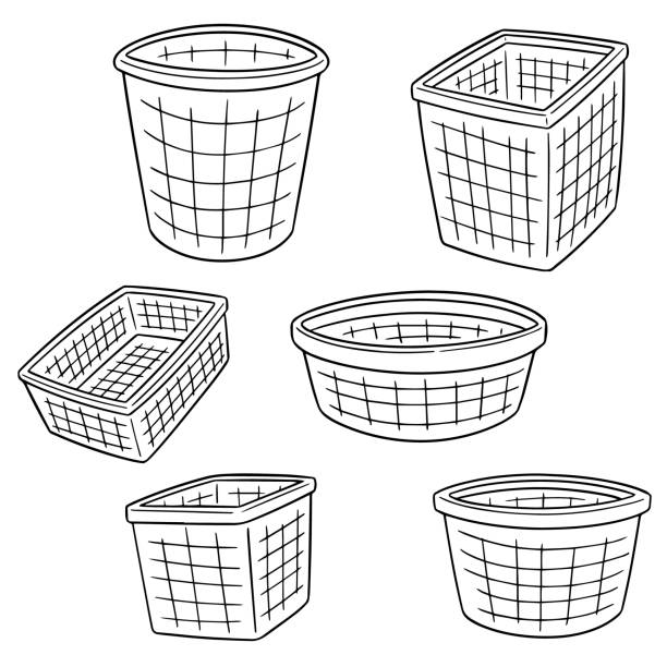 Empty Laundry Basket Clipart Royalty Free Em...