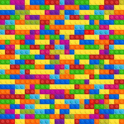 plastic block Plastic Toy Vector Seamless