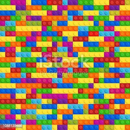 Blocks icon. Abstract figure. Vector graphic