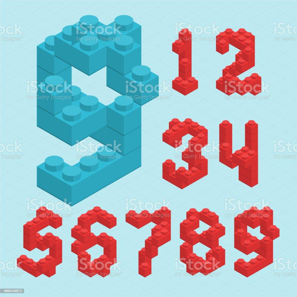 Plastic blocs  numbers