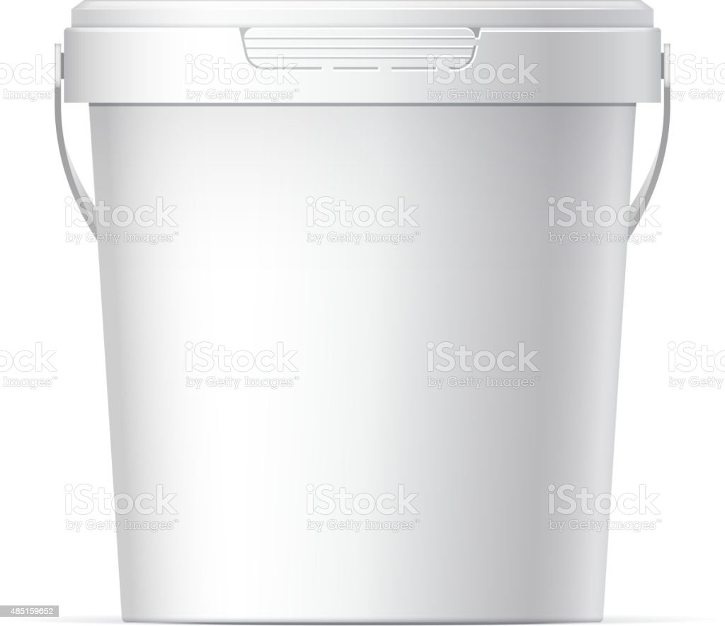 Plastic bucket vector art illustration